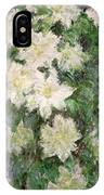 White Clematis IPhone X Case