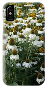White Coneflower Field IPhone Case