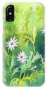 White Daisys IPhone Case