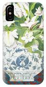 White Double Tulips And Alstroemerias IPhone Case