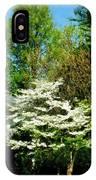 White Flowering Tree IPhone Case