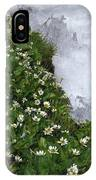 White Flowers And Water IPhone Case