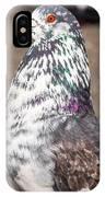 White-gray Pigeon Profile IPhone Case