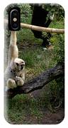 White Handed Gibbon 1 IPhone Case