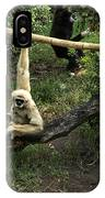 White Handed Gibbon 2 IPhone Case