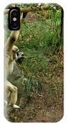 White Handed Gibbon 3 IPhone Case