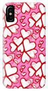 White Hearts - Valentines Pattern IPhone Case