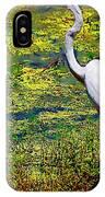 White Heron 1 IPhone Case