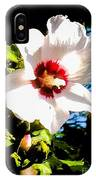 White Hibiscus High Above In Shadows IPhone Case