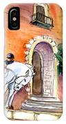 White Horses By The Cathedral In Palma De Mallorca 02 IPhone Case
