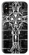 White Iron Cross Bw IPhone Case