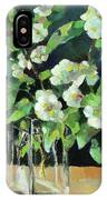White Jasmine In A Ikea Bowl IPhone Case