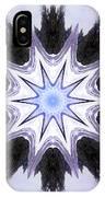White-lilac-black Flower. Digital Art IPhone Case