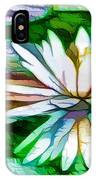 White Lotus In The Pond IPhone Case