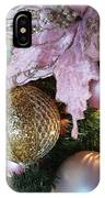 White Ornaments Holiday Card IPhone Case