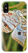 White Peacock Butterfly IPhone Case