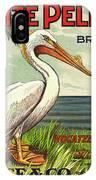White Pelican Fruit Crate Label C. 1920 IPhone Case