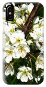 White Plum Blossoms IPhone Case