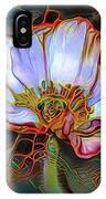 White Poppy Flower IPhone Case