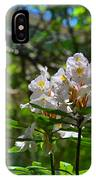 White Rhododendron Blooms IPhone Case