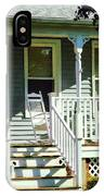 White Rocking Chairs IPhone Case