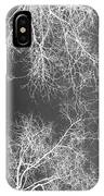 White Silhouetted Trees  IPhone Case