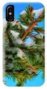 White Snow On Evergreen IPhone Case