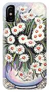 White Straw Flowers Two IPhone Case