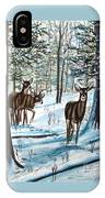 White Tail Deer In Winter IPhone Case