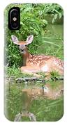 White Tailed Fawn Wildlife IPhone Case