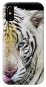 White Tiger Closeup IPhone Case