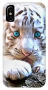 White Tiger Cub IPhone Case