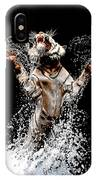 White Tiger Jumping In Water IPhone Case