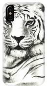 White Tiger Portrait IPhone Case