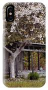 White Tree And Old Barn IPhone Case