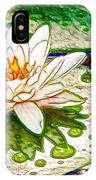 White Water Lilies Flower IPhone Case