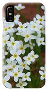 White Wildflowers IPhone Case