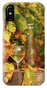 White Wine And Vineyard Autumn Season IPhone Case