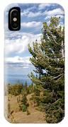 Whitebark Pine Trees Overlooking Crater Lake - Oregon IPhone Case