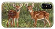 Whitetail Deer Twin Fawns IPhone Case