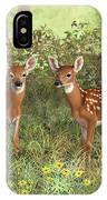 Whitetail Deer Twin Fawns IPhone X Case