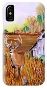 Whitetail Deer With Truck And Barn IPhone Case