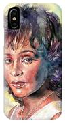 Whitney Houston Portrait IPhone Case