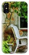Wicker Rocking Chair On Porch IPhone Case