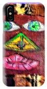 Wide Eyed Loup Garou Mardi Gras Screen Mask IPhone Case
