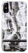 Wide Waterfal Joining The Sea IPhone Case