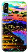 Wild And Crazy Mountainous Sunset IPhone Case