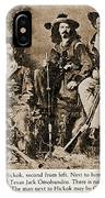 Wild Bill Hickok, Buffalo Bill IPhone Case