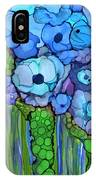 Wild Blue Poppies IPhone Case
