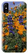 Wild California Poppies And Lupine IPhone Case